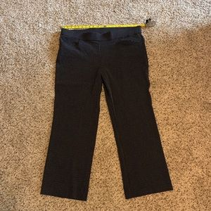 Black Work Pant with Tiny White Cross Embroidery